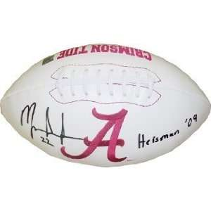 Mark Ingram Autographed/Hand Signed Alabama Crimson Tide Logo Football