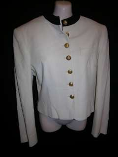 Ralph Lauren Womens size 8 black and white blazer wool / lined