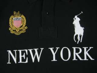Polo Ralph Lauren mens shirt big pony NEW YORK flag L new