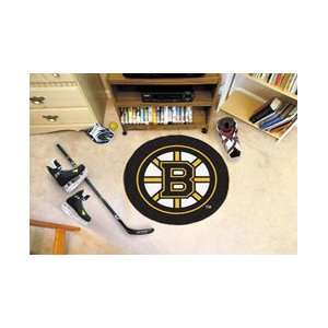 NHL Boston Bruins Rug Hockey Puck Mat
