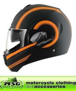 MOOVIT S3 ST MOTORCYCLE HELMET LARGE MATT BLACK/ORANGE SERIES 3