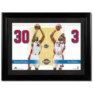 Rasheed Wallace and Ben Wallace Detroit Pistons Unsigned