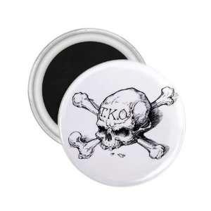 Tattoo Skull Art Fridge Souvenir Magnet 2.25