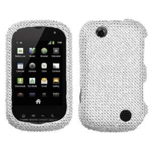 Silver Crystal Diamond BLING Hard Case Phone Cover Sprint Kyocera