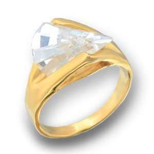 Womens Young Line Clear Cubic Zirconia Gold Tone Ring