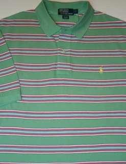 NWT Mens Polo Ralph Lauren Sizes XL & XXL Stripe Mesh Shirt