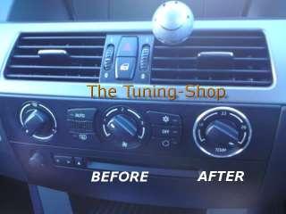 BMW E60 5 SERIES CHROME AIR CON CONTROL SURROUNDS RINGS