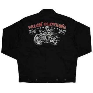 New Felon Lucky 13 Psychobilly Rockabilly Motorcycle Chino Mens Black