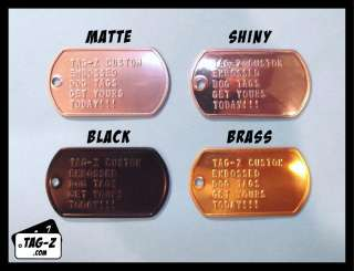 Dog Tag Custom Embossed  GI ID Tags   Personalized Tag Replacement