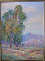 American NV CA Listed Nevada Wilson Framed Oil Painting Landscape
