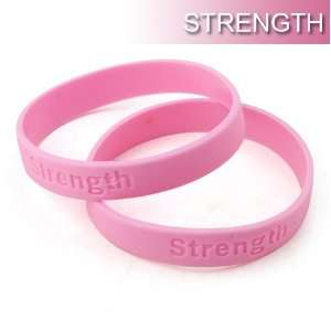 Bracelets, Symbol of Strength Debossed Wristbands: Sports & Outdoors