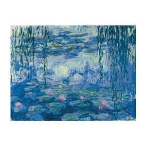 Claude Monet Water Lilies And Willow Branches  Art Reproduction Oil