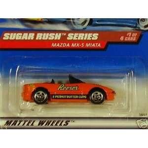 Mattel Hot Wheels 1998 164 Scale Sugar Rush Series Reeses Mazda MX 5
