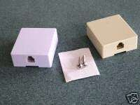 100  RJ 11 BISCUIT TELEPHONE JACK SURFACE MOUNT BOX