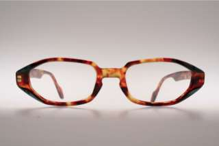 Vintage flat amber brown Eyeglasses by TRACTION PRODUCTION  Mod. MIURA