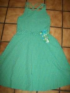 GIRLS SUMMER/SPRING DRESS~SIZE 14~BY BONNIE JEAN~PLAID