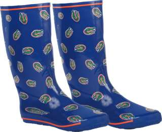 Florida Gators Womens Royal All Over Print Rubber Rain Boots