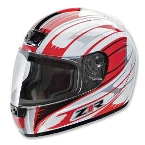 Z1R Phantom Avenger Helmet, White/Red, Size Sm, Helmet