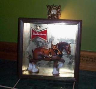 Vintage Original Budweiser Clydesdale Horse Figure Beer Light Sign old