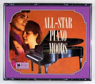READERS DIGEST ALL STAR PIANO MOODS 4 CD SET. WITH BOOKLET.