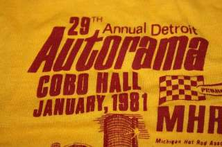 NOS vtg 80s 1981 STROHS BEER Detroit hot rod shirt