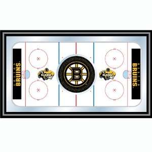 NHL Boston Bruins Framed Hockey Rink Mirror  Sports
