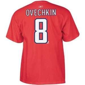 Washington Capitals Alex Ovechkin Name & Number T Shirt