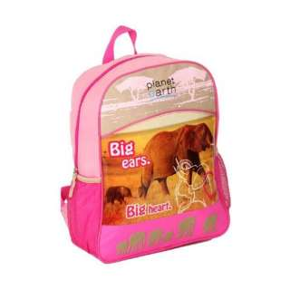 Planet Earth Animal Friends Kids Backpack Pink: Clothing