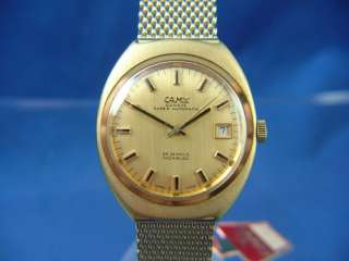 VINTAGE SWISS CAMY GENEVE AUTOMATIC GENTS WATCH NOS 1970S MINT