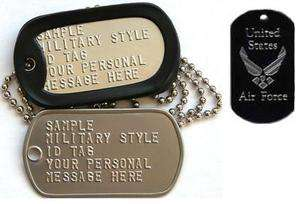 stamped military DOG TAGS I love my soldier ID dogtag Air Force tag