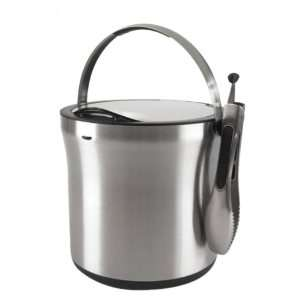 OXO Good Grips Steel Ice & Wine Bucket with Tongs Kitchen