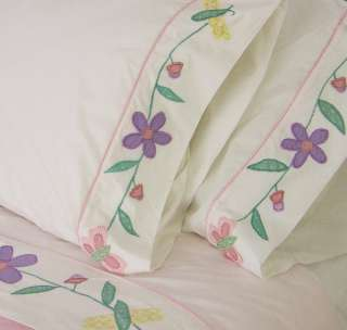 SPRING BUTTERFLY TWIN COTTON QUILT SET GIRL BEDDING NEW