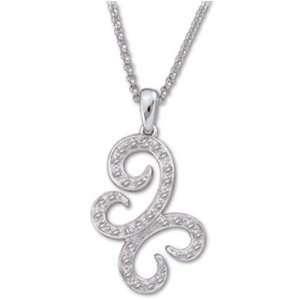 Round Cut Diamonds, 14K White Gold. Butterfly Diamond Fashion Necklace
