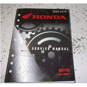 2009 2010 Honda MUV700 Big Red Muv 700 Service Shop Repair Manual