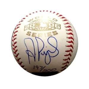 Autographed Albert Pujols 2006 World Series Baseball