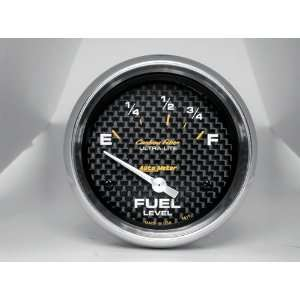 Carbon Fiber 2 5/8 73 E/ 8 12 F Short Sweep Electric Fuel Level Gauge