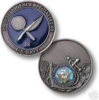 NAVY INTELLIGENCE SPECIALIST ENGRAVABLE CHALLENGE COIN