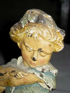 ANTIQUE C.J.O. JUDD CAST IRON GIRL CAT DRESS STATUE SCULPTURE DOLL