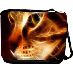 Rikki KnightTM Fire Tiger Messenger Bag   Book Bag