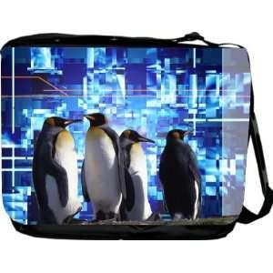 Rikki KnightTM Penguins Design Messenger Bag   Book Bag