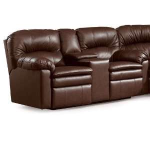 Double Reclining Console Sofa by Lane   5101 20 Leather