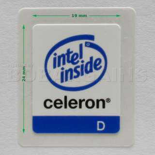 Intel Celeron D Inside Sticker / Decal / Badge 19x24mm