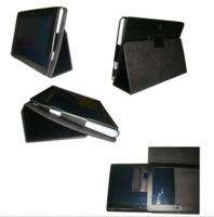 Stand Folio Leather Case Cover For SONY Tablet S S1 Black