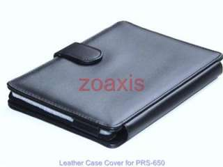 Black Leather Case Cover for Sony PRS 650 Reader Touch
