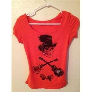 Fashion Cute Korean Cotton T shirt Tops Party Women Clothes Skull