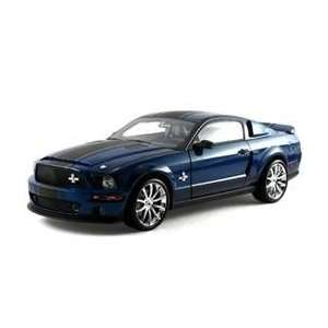 2008 Shelby Mustang GT 500 Super Snake Blue 1/18 Toys