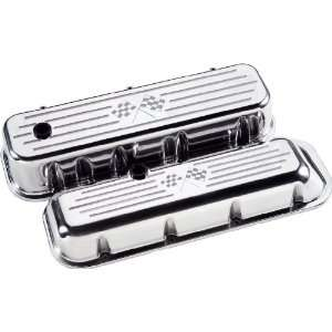 Specialties 96027 Checker Flag Short Valve Cover for Big Block Chevy