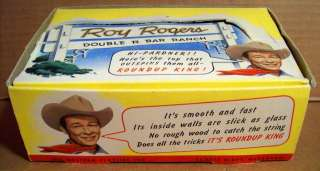 VINTAGE ROY ROGERS ROUND UP KING TOPS BOX OF YO YOS