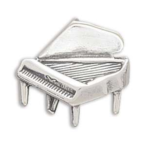 Sterling Silver Piano Music Necklace Pendant Charm
