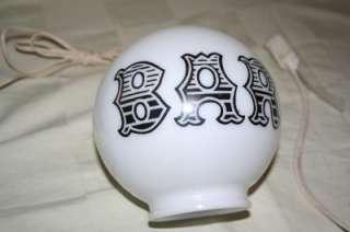 Glass Globe CHALKWEAR Charlie Chaplin LAMP Light ASHTRAY BASE
